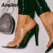 Aneikeh Fashion 2020 Summer Women's Sandals PVC On Ladies Shoes