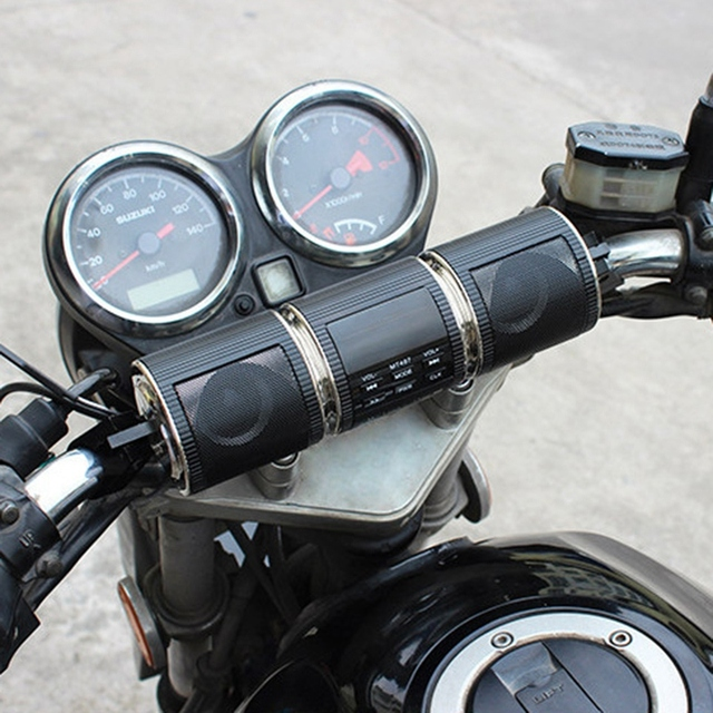 Bluetooth Motorcycle Handlebar Stereo System  2
