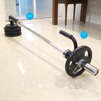 Gym Home Fitness Barbell T-Bar V-Bar Core Strength Trainer Barbell Attachment Deadlift Squat Workout Training Handle Rowing Bar