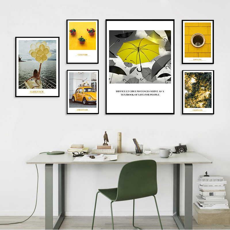 Photography Still Life Scenery Picture Home Decor Nordic Canvas Painting Wall Art Yellow Art Posters and Prints for Living Room