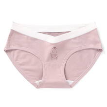 Lady Maternity Cotton Panties Pregnancy & Women Underwear U-Shaped Low Waist Big Size