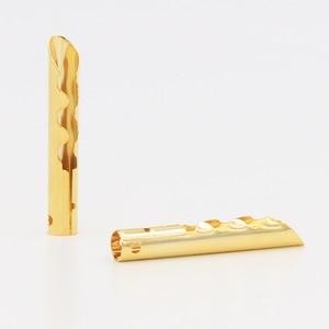 Image 2 - 12 قطعة VB432G الذهب النحاس الصوت BFA Z نوع 4 مللي متر الموز التوصيل المتكلم كابلات الموصلات