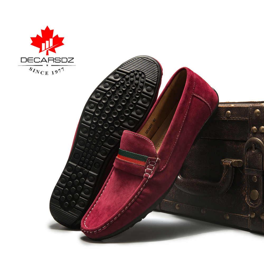 Erkekler loafer ayakkabılar 2020 sonbahar moda Moccasins ayakkabı süet Slip-On marka erkek ayakkabıları erkekler eğlence yürüyüş gündelik erkek ayakkabısı