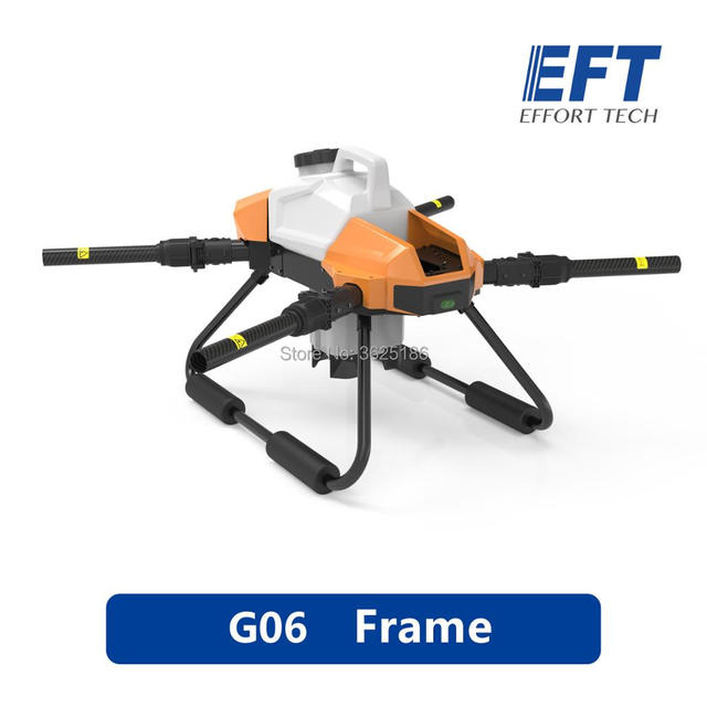 2020 EFT G06 Agricultural Spray Drone Frame DIYFour axis 6L 6KG 1170mm Wheelbase Foldable Drone Frame UAV
