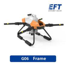 Marco de Dron agrícola en aerosol, 2020 EFT G06, DIYFour axis 6L 6KG 1170mm, base de rueda, Marco plegable para Dron UAV