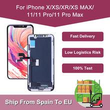 Pantalla táctil LCD OLED para iPhone X, XR, XS MAX, 11 PRO MAX, montaje de digitalizador con pantalla táctil 3D TFT, envío desde España