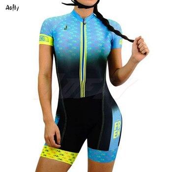 Bicicleta de estrada roupas femininas ciclismo roupas sexy macacão colômbia lycra triathlon esportes skinssuit ropa de ciclismo crânio flores 1