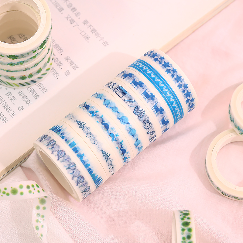 10 Pcs/Lot Lace Fine Section Washi Tape Diy Decoration For Scrapbooking Masking Tape Adhesive Tape