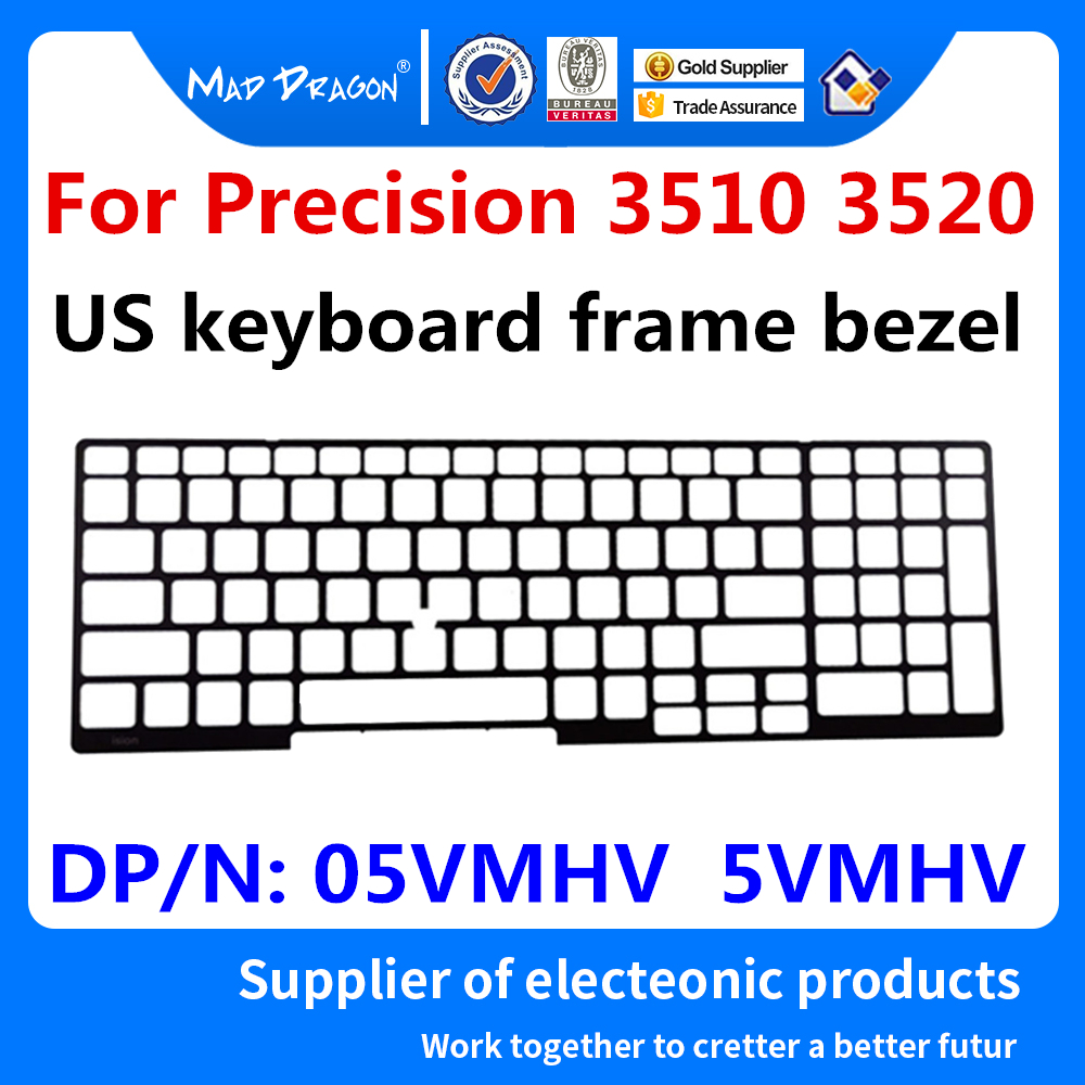 new original Laptop US keyboard frame bezel For <font><b>Dell</b></font> Precision <font><b>3510</b></font> 3520 M3510 M3520 US keyboard frame bezel 05VMHV 5VMHV image