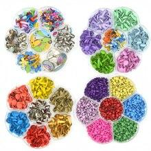 Ассорти цветов штифтики для скрапбукинга, украшение Brads Мини Металл бронза DIY ремесло материал
