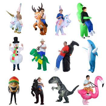 2020 Purim Gift Inflatable Dinosaur Costumes Unicorn Party Cosplay Alien Costume Mascot Halloween for Woman Adult Kids - discount item  35% OFF Costumes & Accessories