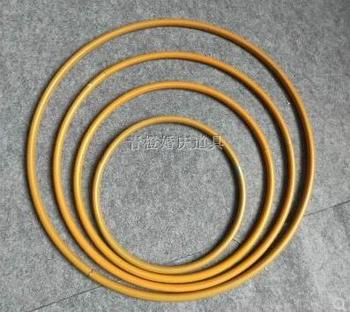 DIY wedding ring wedding dream catcher iron ring stage ring line curtain iron ring single circle