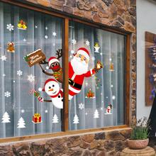 Dekoracje na święta bożego narodzenia dla domu 2020 naklejki okienne ozdoby Garland nowy rok 2021 Noel święty mikołaj prezent Xmas tanie tanio FortyLions CN (pochodzenie) Christmas Bez pudełka
