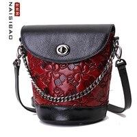 NAISIBAO Women Genuine Leather handbag fashion luxury handbags women bags designer bags women shoulder bags 2020 new cowhide bag
