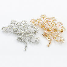 Glamoroso pine vintage broche ramita perla broche de mujer pin joyería de la boda de moda regalo de broche