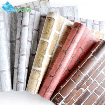 0.45x5M PVC Brick Pattern Wallpaper Self-adhesive Modern Living Room Dormitory Study Waterproof Wall Sticker DIY Room Decoration beauty little girl wall sticker pvc wallstickers wall art wallpaper for kids room decoration waterproof adesivi murali lw588