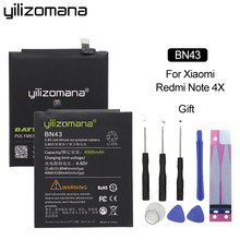 YILIZOMANA Original Phone Battery BN43 for Xiaomi Redmi Note 4X / 4 Global Snapdragon 625 4000mAh Genuine battery + Tools