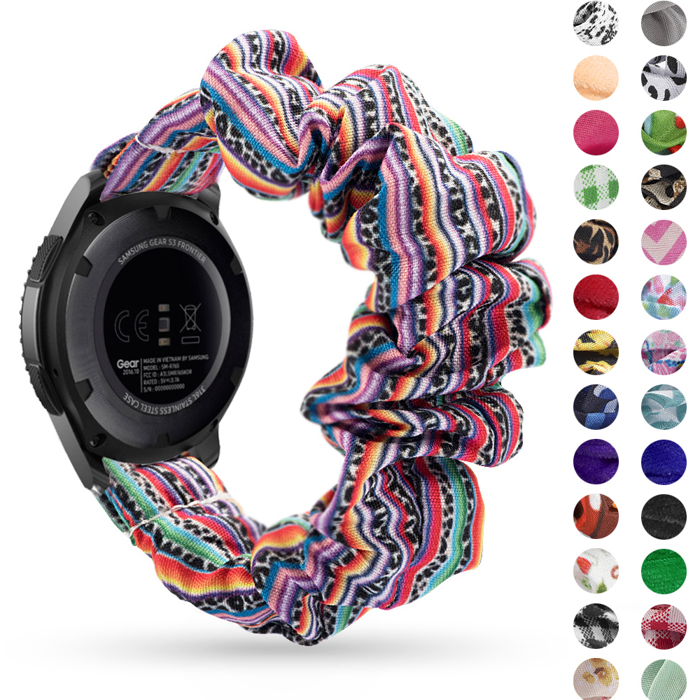 20 22mm Elastic Watch Band For Samsung Galaxy Watch 46mm Active 2 42mm Huawei Watch GT2 Strap Elastic Strap Gear S3 Amazfit Bip
