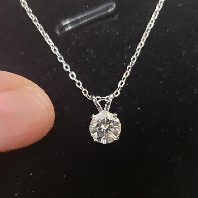 Oevas real 1 quilates d cor moissanite pingente para mulher 18k banhado a ouro 100% 925 prata esterlina festa de casamento jóias finas presente 2