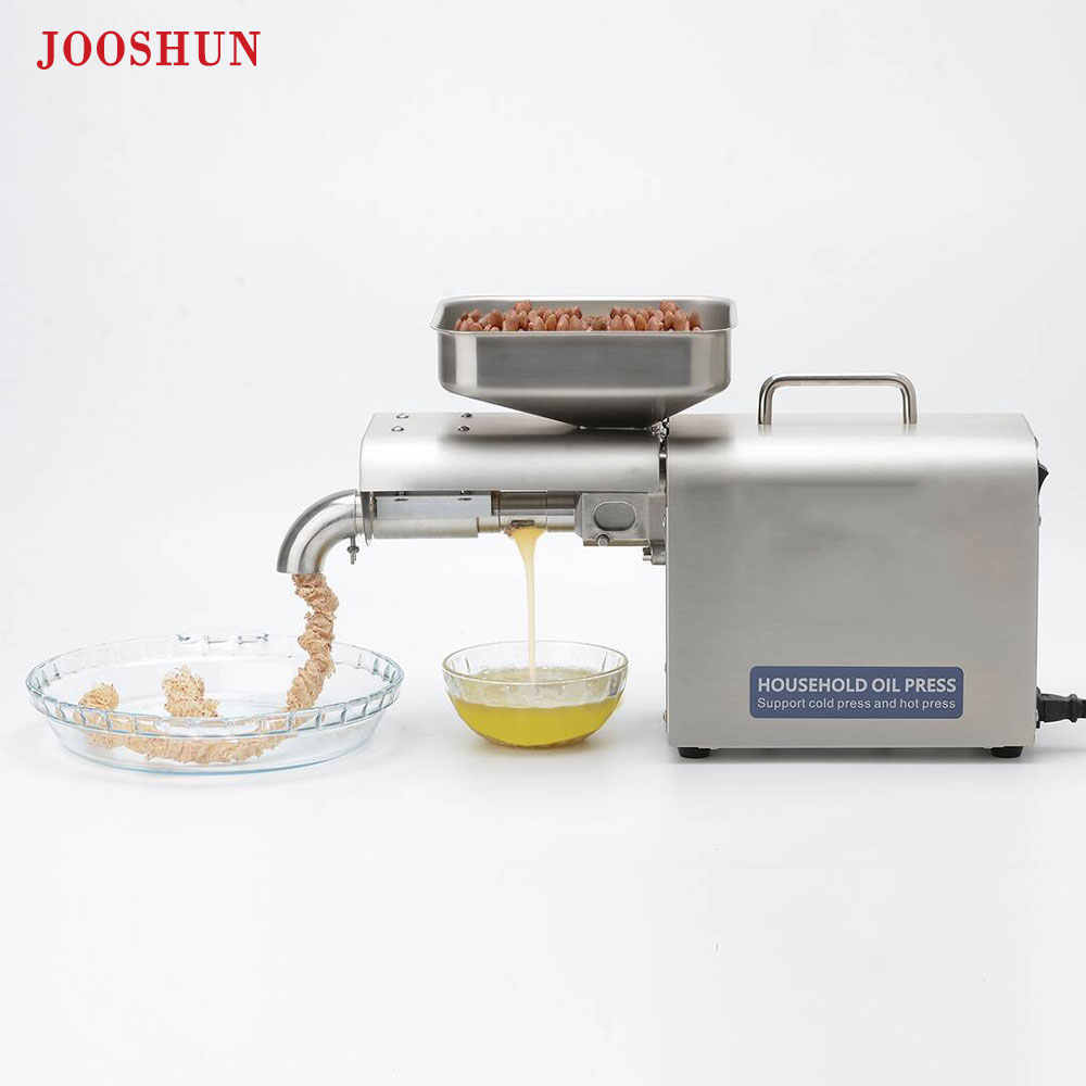 110V/220V Automatic cold press oil machine,sesame,coconut,sunflower seeds oil extractor,Stainless steel oil press machine 1500W