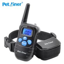 Petrainer 998DRB 1 300M מרחוק חשמלי כלב צווארון הלם רטט נטענת אטים לגשם כלב עם תצוגת LCD