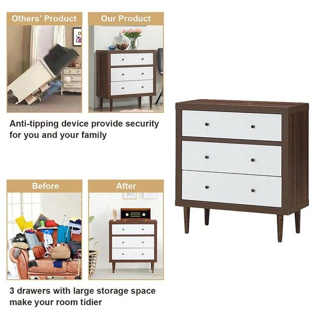 3 Drawer Wooden Dresser 3