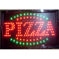 2017 Special Offer Hot Sale Graphics 15mm indoor Ultra Bright flashing 19X10 Inch PIZZA Business Shop Led open sign