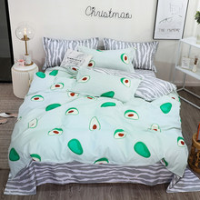 3D Bedding Set Fruit Avocado Print Duvet Cover Set Bedclothes & Pillowcase & Bed Sheet 3/4pcs super king queen full twin size(China)