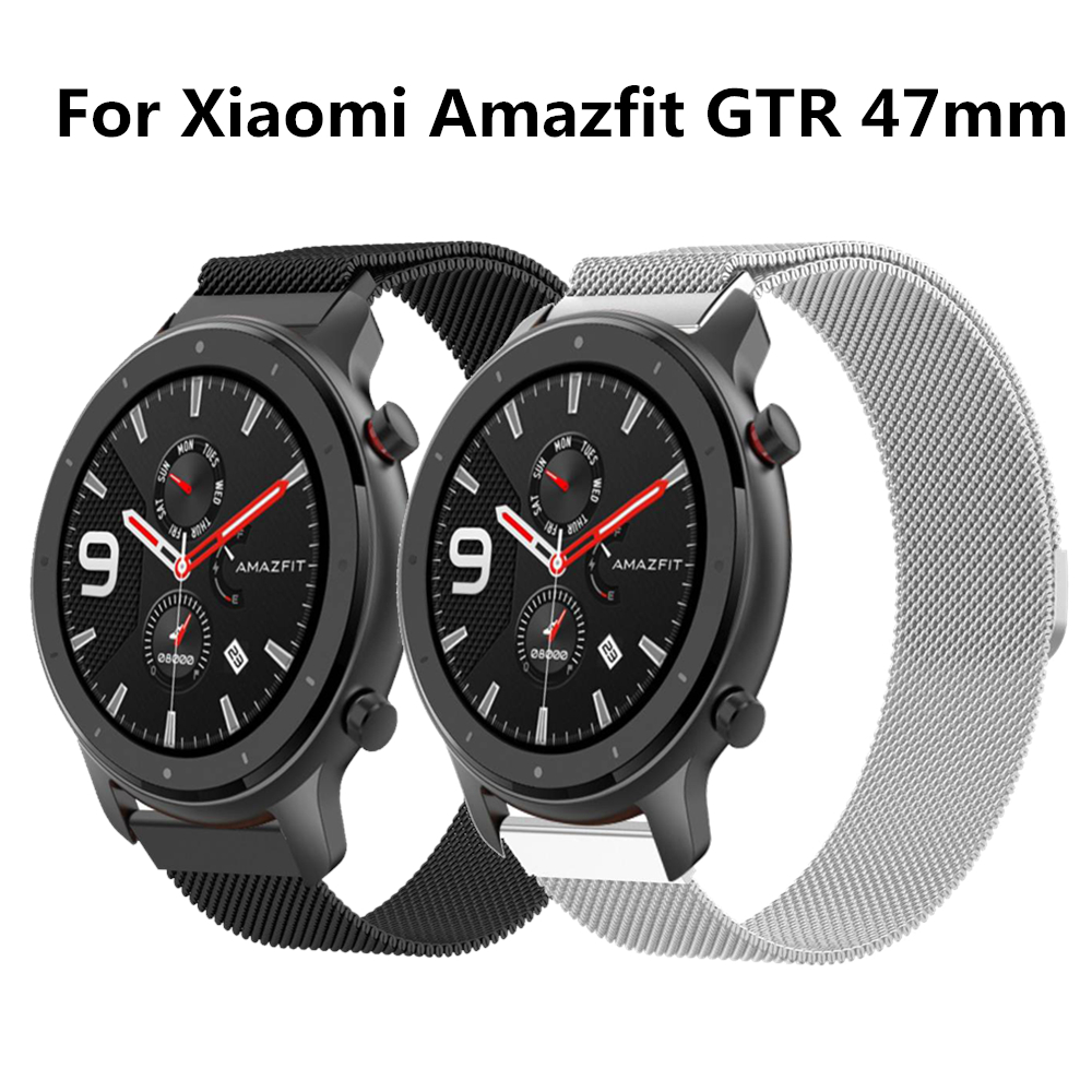 Magnetic Bracelet For Amazfit GTR Strap 20mm 22mm Milanese Metal Smart Watch Band For Xiaomi Huami Amazfit Bip Pace 1 Stratos 2s