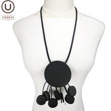Ukebay круглые ожерелья с кулоном для женщин 2020 модное ожерелье