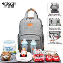 Large Diaper Bag Backpack Multifunction Maternal Nursing Fashion Mommy Bag Travel Bottle Insulation Waterproof Baby Bags for Mom