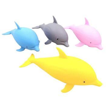 1pcs Kawaii Dolphin Sand Ball TPR Soft Decompression Toy Slow Rising Jumbo Squishi Antistress Kids Toys Random Color