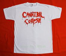 Cannibal Corpse Logo Death Metal Grindcore Chris Barnes New White T-Shirt Print T Shirt Top Tee Style Summer(China)