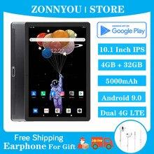 Zonnyou novo android 9.0 comprimidos 4g rede chamada de telefone octa núcleo 10.1 Polegada ips 1280 × 800 4gb ram 32gb rom sc9863a telefone tablet pc