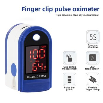 Portable Finger Oximeter Fingertip Pulsoximeter Medical Equipment With Sleep Monitor Heart Rate Spo2 PR Pulse Oximeter image