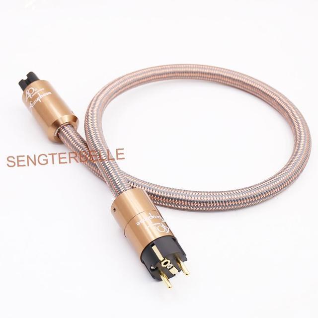 HI End Schuko Power Cord CD amplifier amp EU Power Plug Cable HIFI AC Mains Power Cable EU Schuko Power line