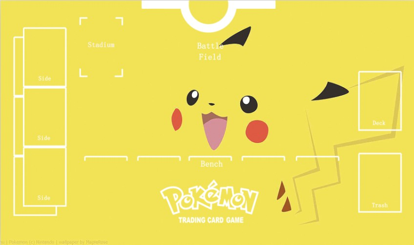 Takara Tomy PTCG Accessories Pokemon Card Game Table Playmat Pikachu Toys For Children