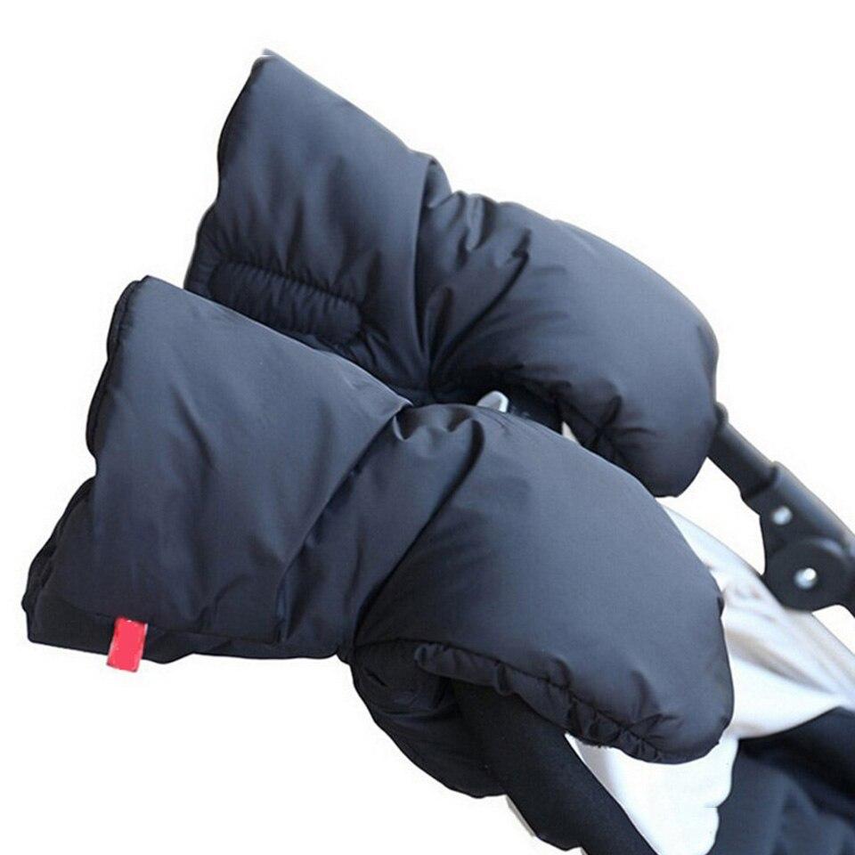 Warm Baby Stroller Gloves Winter Pushchair Hand Muff Waterproof Pram Accessory Mitten Baby Buggy Clutch Cart Thick Fleece Gloves