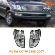 POSSBAY Clear Lens Car Front Side Corner Light Turn Signal Lamp Frame Without Bulbs For Lexus