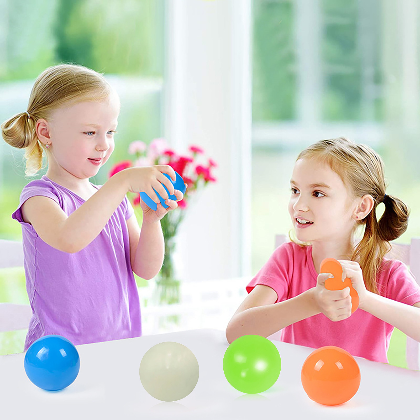 Sticky-Target-Balls Fidget-Toy Squash Decompression Stress Globbles Gift 4pc Throw Wall-Ball img5