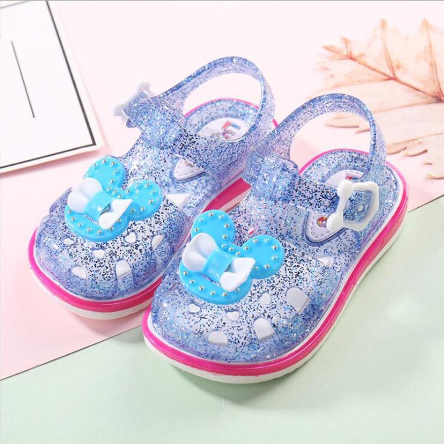 Summer baby girl sandals fashion crystal children baby toddler shoes princess sandals waterproof soft kids girls sandals baby