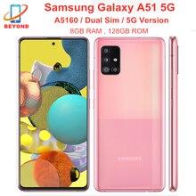 Samsung – téléphone portable Galaxy A51 5G A5160, double Sim, 8 go de RAM, 128 go de rom, Octa Core, 6.5 pouces, 4 caméras, NFC, Exynos, 4500mAh