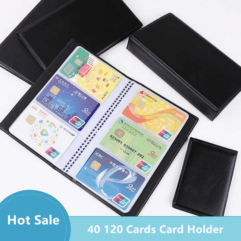PU Leather Cards Business Name ID Credit Card Case Book Holder Keeper OrganizerT