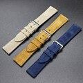 Качественный замшевый кожаный ремешок для часов 20 22 мм светло-голубой Черный Сменный ремешок для часов аксессуары мягкий кожаный браслет # D