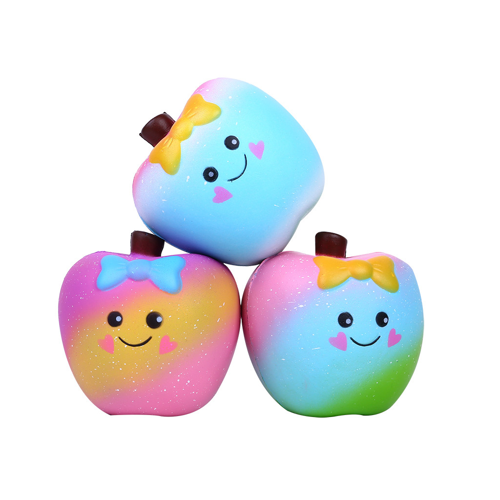 Aromatic Simulation Apple Puzzle Children's Toy Gift Scented Charm Slow Rising Collection Stress Reliever Toys L106