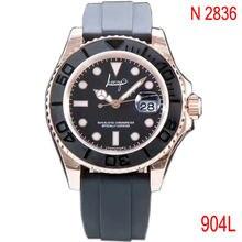 Роскошные часы высокого качества 904l из розового золота мужские