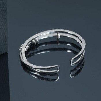 New European and American silver diamond buckle bracelet fashion simple girl bracelet jewelry браслет