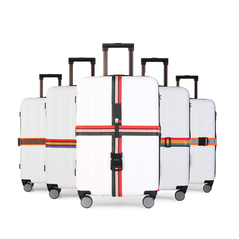 N Manufacturers Direct Selling Luggage Packing Belt Cross Box Strapping Suitcase Band Ordinary Coded Lock Luggage Strap