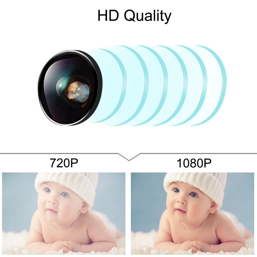 Image 5 - WiFi Baby Monitor With Camera 1080P HD Video Baby Sleeping Nanny Cam Two Way Audio Night Vision Home Security Babyphone Camera-in Baby Monitors from Security & Protection