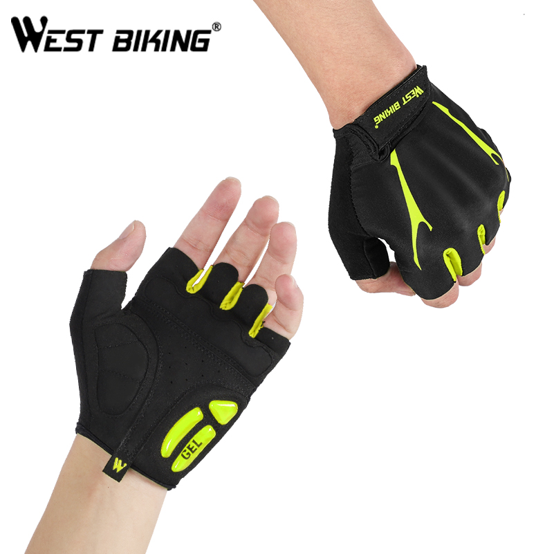 Men Women Half Finger Gym Sport Soft Leather Gloves Wrist Cotton Shockproof Pad